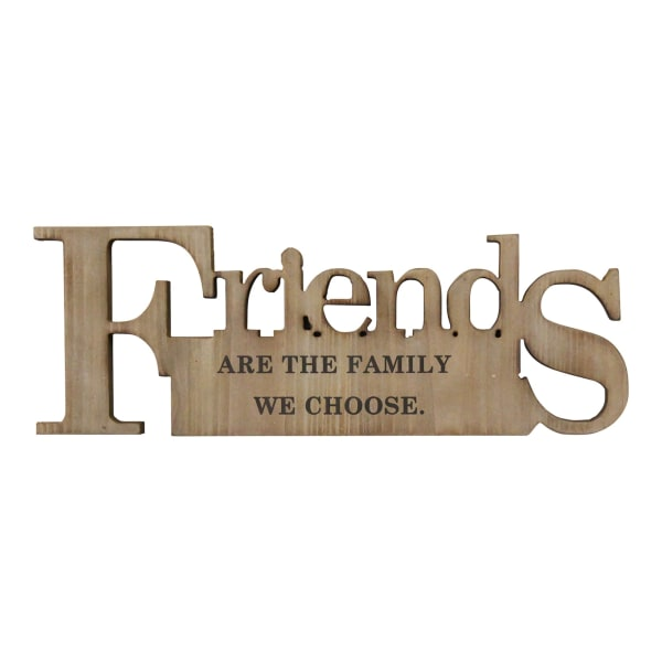 Friends are the Family Natural Wooden Wall Decor