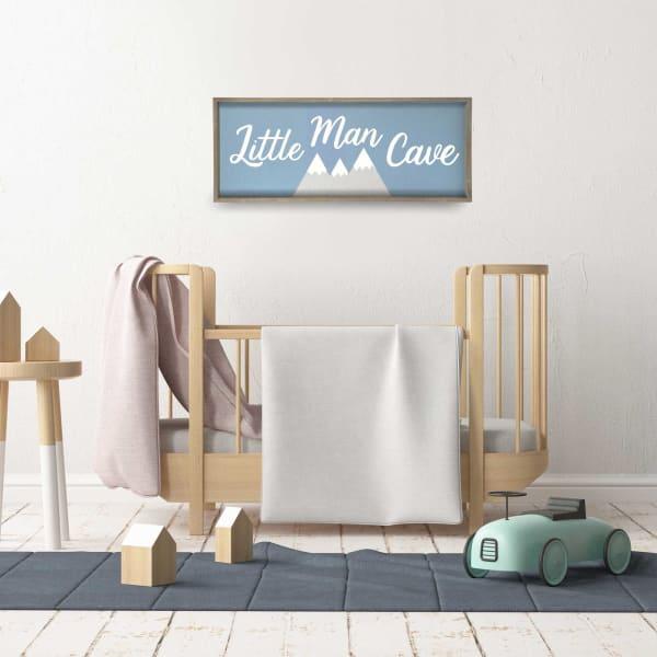 Little Man Cave Framed Wall Art