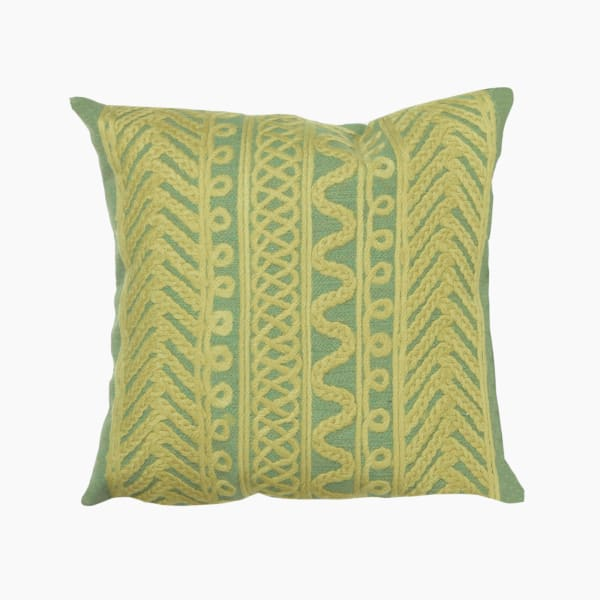 Visions II Celtic Grove Grass Outdoor Pillow