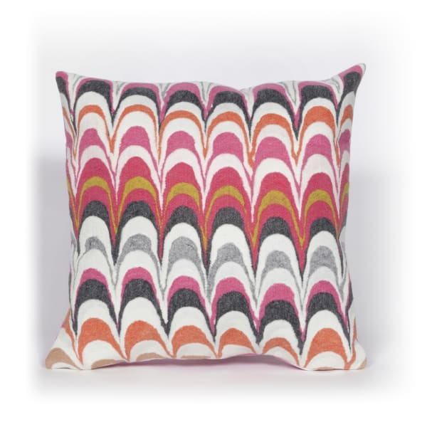 Visions III Floating Ink Opera Outdoor Pillow