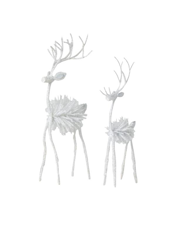 Pinecone Set Of 2 Deer