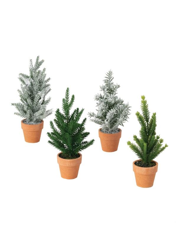 Mini Potted Set Of 4 Trees