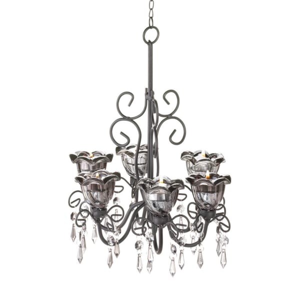 Midnight Blooms Candle Chandelier