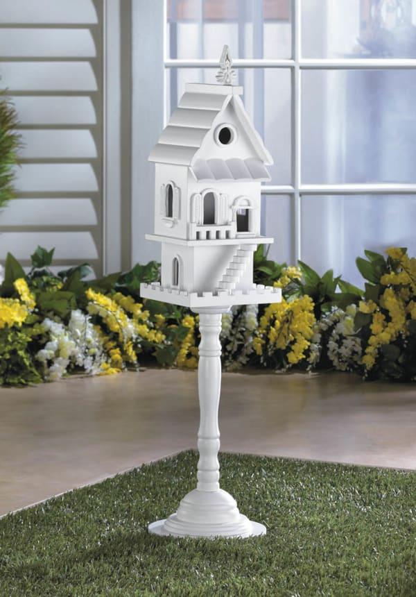 Two Story Pedestal Birdhouse