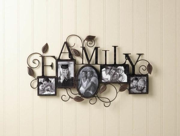 Family 5 Photo Wall Frame