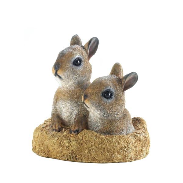 Peek-A-Boo Garden Bunnies Decor