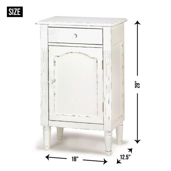 Graceful Antiqued Cabinet