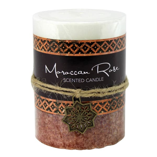Moroccan Rose Pillar Candle