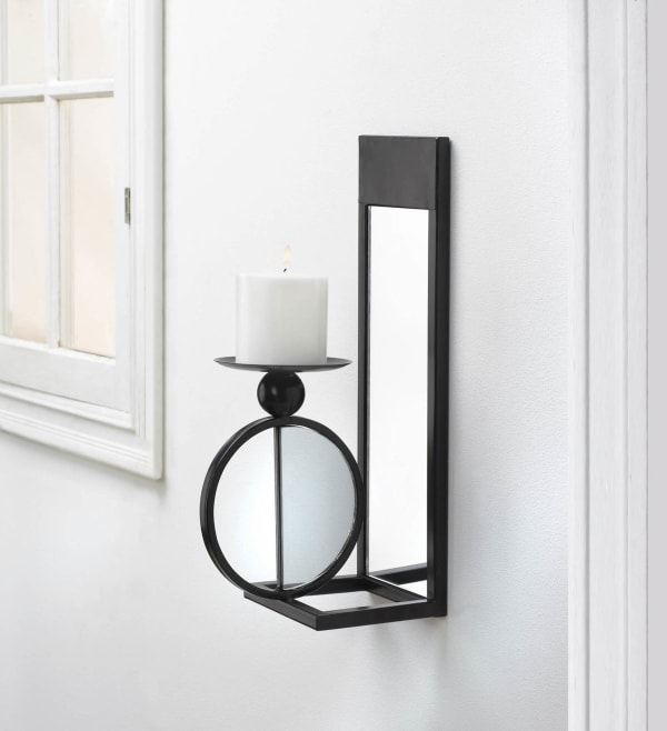 Mirrored Candle Wall Sconce