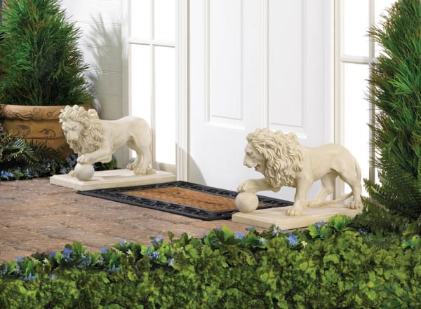 Regal Lion Statue Set of 2