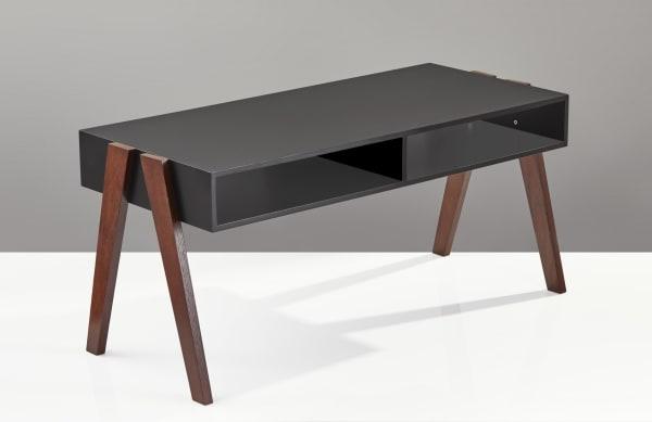 Black and Walnut Modern Retro Coffee Table