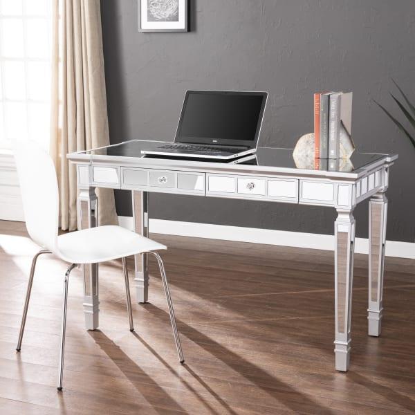 Corsica Glam Mirrored Writing Desk