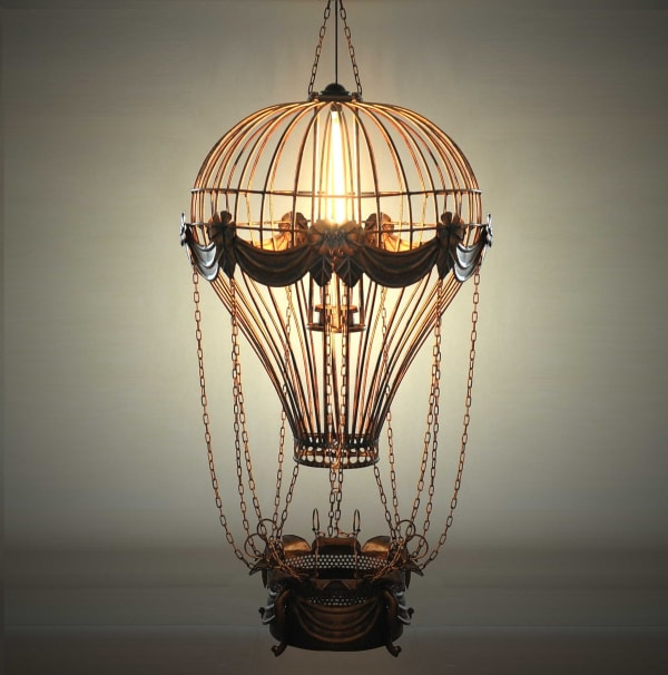 Vintage Hot Air Balloon Pendant Light