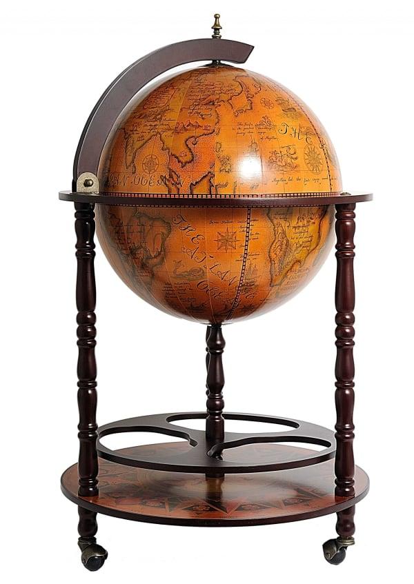 Globe with Drink Storage Bar