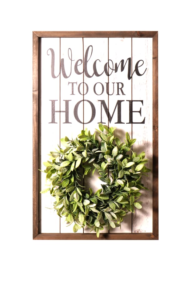 Welcome Sign and Wreath Kit
