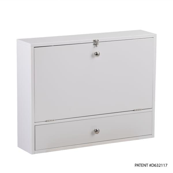 Folding White Wall Desk