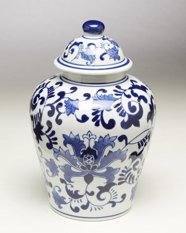 Blue and White Floral Ginger Jar