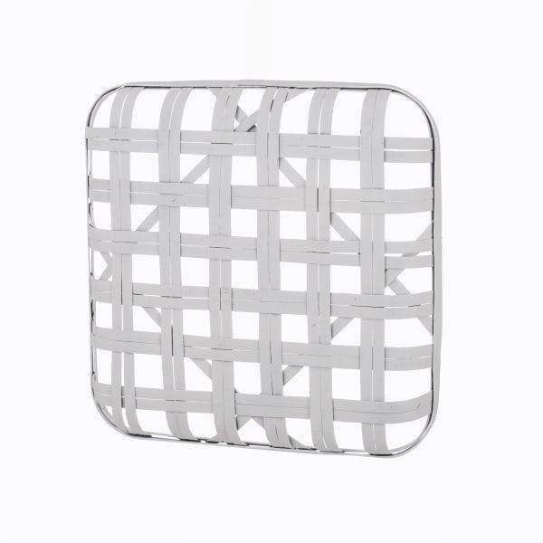 Vintage White Bamboo Tabacco Basket