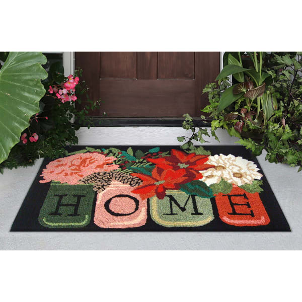 Holiday Home In/Out Rug Black 2' x 3'