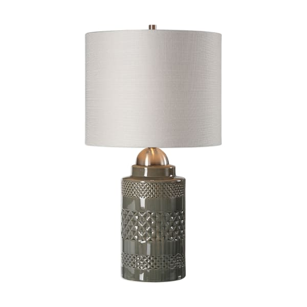 Mushroom Gray Ceramic Table Lamp