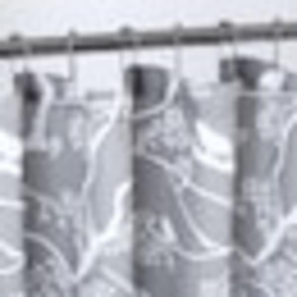 Bird Printed Waffle Shower Curtain Set