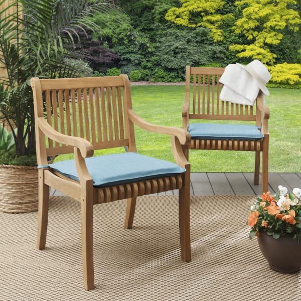 Sunbrella Corded Outdoor Set of 2 Chair Pads