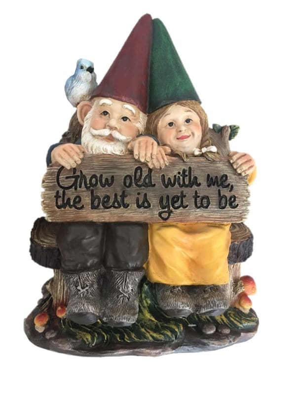 Grow Old With Me Gnomes Outdoor Sculpture
