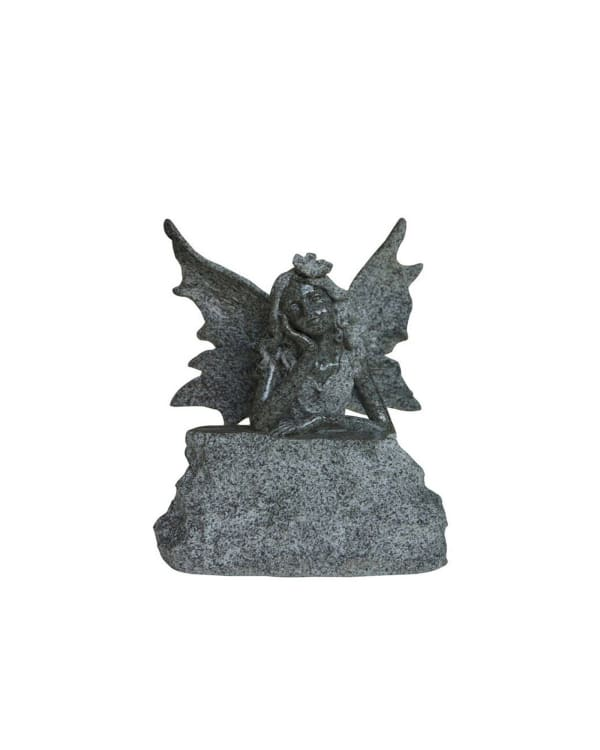 Fairy On Rock Outdoor Sculpture
