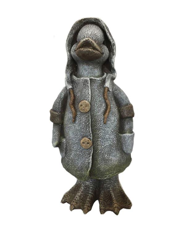 Raincoat Duck Outdoor Sculpture