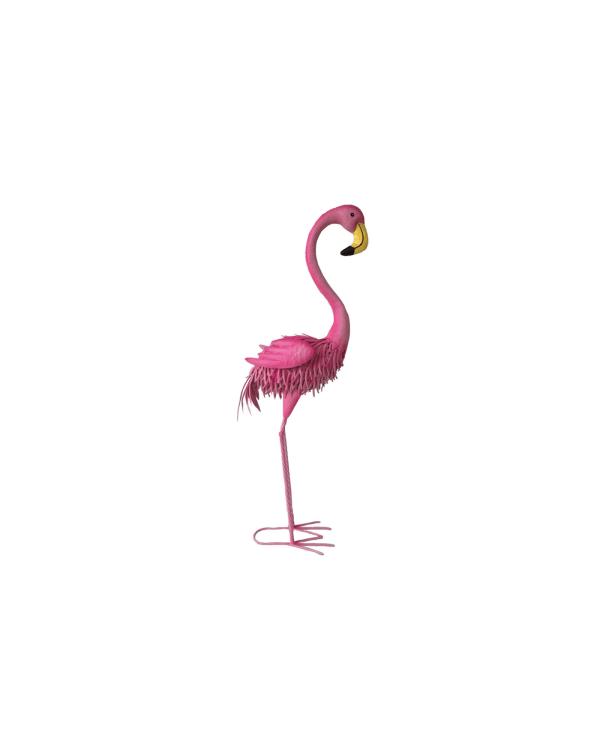 Iron Flamingo Outdoor Sculpture
