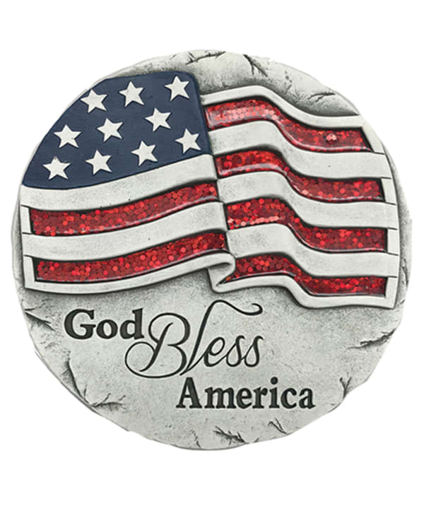 God Bless America Stepping Stone Outdoor Sculpture