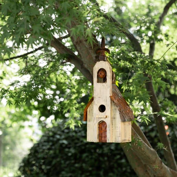Distressed Wooden Birdhouse