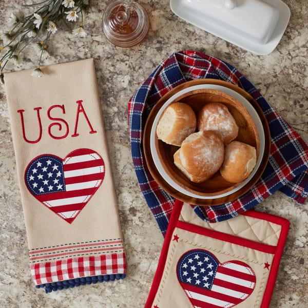 Americana Love Potholder Gift Set