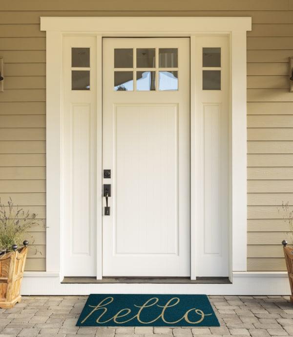 Storm Blue Hello Doormat