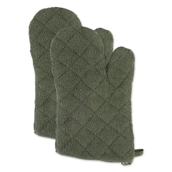 Artichoke Terry Set of 2 Oven Mitts