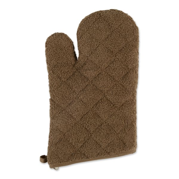 Brown Terry Set of  2 Oven Mitts