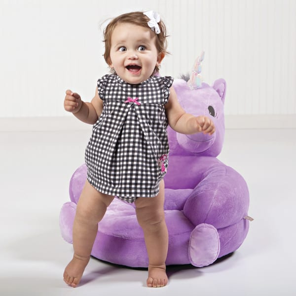 Children's Plush Unicorn Character Chair