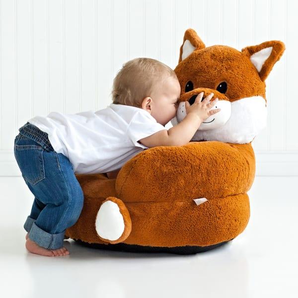 Children's Plush Fox Character Chair
