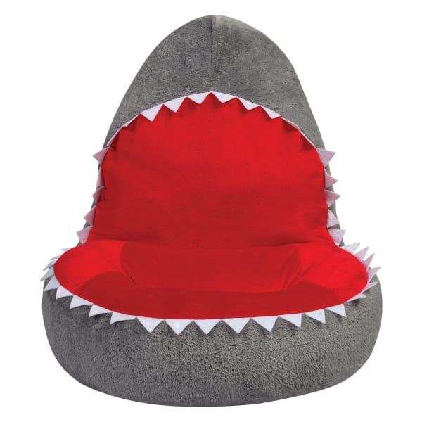 Children's Plush Shark Character Chair