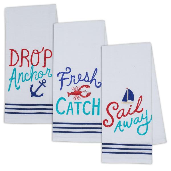 Fresh Catch Set of 3 Dishtowels