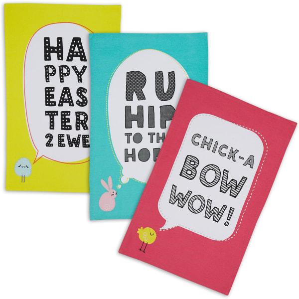 Easter Animals Set of 3 Dishtowels
