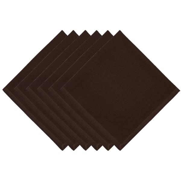 Chocolate Brown Napkins Set of 6