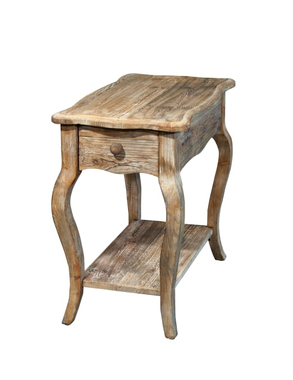 Rustic Reclaimed Chairside Table, Driftwood
