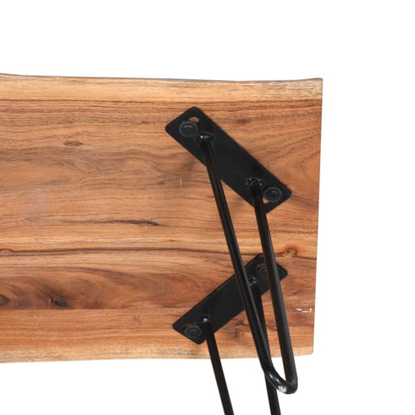 Hairpin Natural Live Edge End Table Natural