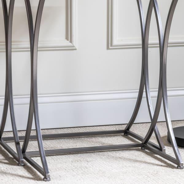 Laiken 2 Piece Mirrored Nesting Tables