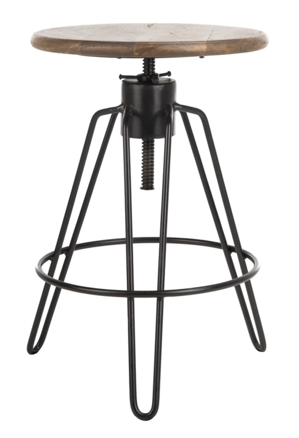 Gitano Black Adjustable Swivel Counter Stool