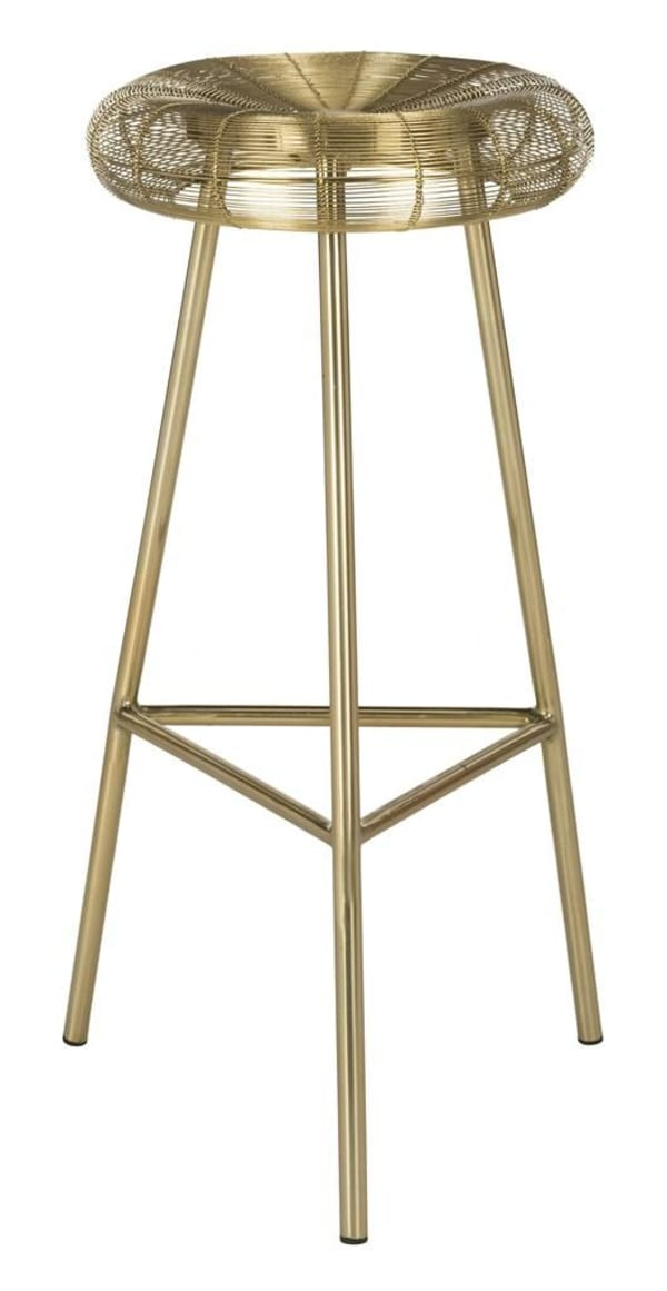 Mckay Gold Wire Weaved Counter Stool