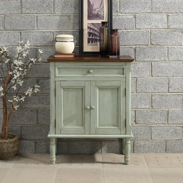 Green Two Door Cabinet