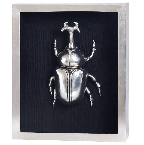 Silver Beetle III Shadow Box Framed Wall Art