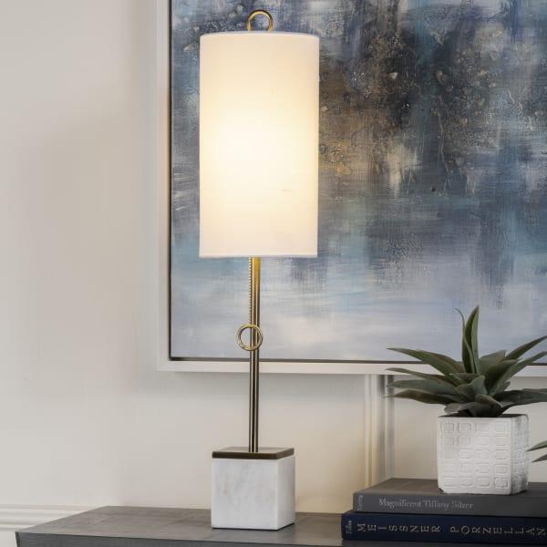 Cerelia White Marble Table Lamp